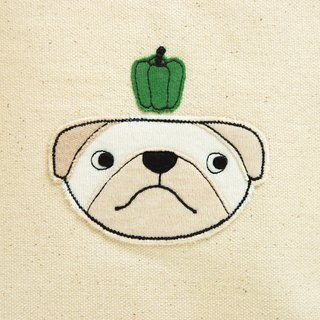 Cats and dogs had Christmas bag - green pepper dog
