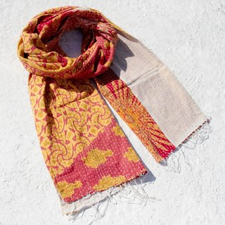 Valentine's Day gift a rapid arrival limited Sew yarn Li Bu scarf / scarf embroidery / embroidered scarves / scarves line hand-stitched saree / stitching yarn Li Bu - Desert National Wind fabric