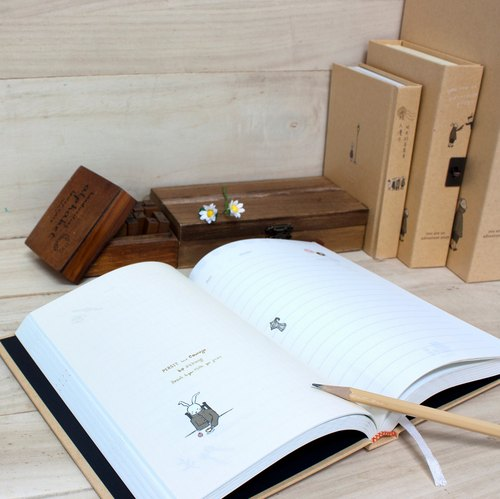 Boge stationery x traveler [leather hardcover 25K lock diary] two designs