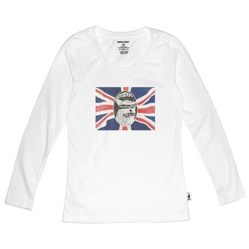 British Fashion Brand 【Baker Street】God save the alpaca Printed Long Sleeve
