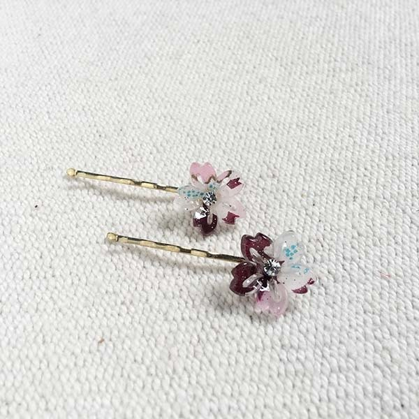 cherry blossoms hairpin-red