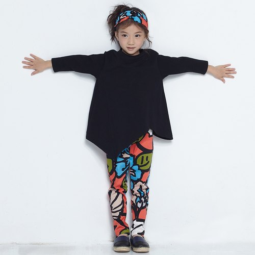 Comoyo-printed pencil pants (7-12Y)