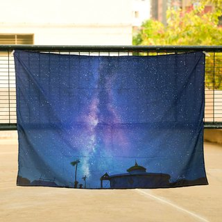 Milky Way dreams of the [large alcove] 150*100 cm belongs to your star curtain hanging cloth mural wall