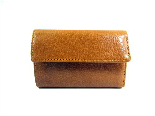 Buffalo leather  Coin Catcher Wallets  Camel