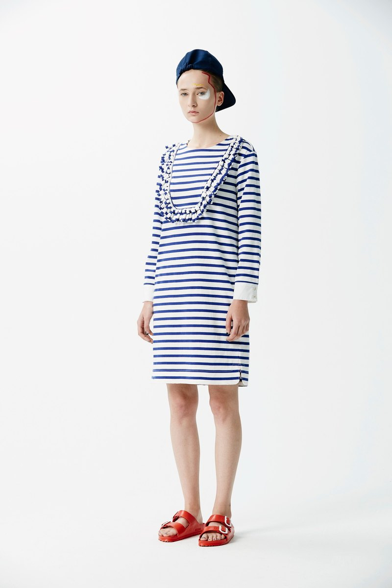 ZUO - handmade knotted short version of casual dress