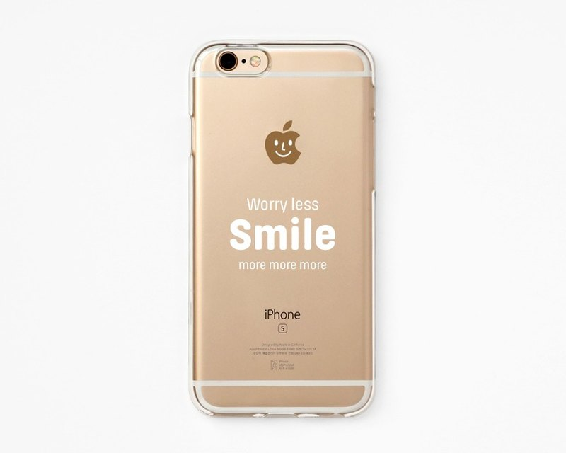 iPhone Rubber Case - Smile More for iPhones  - Clear Flexible Rubber Silicone