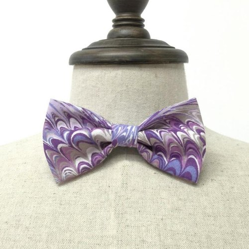 Purple corrugated handmade tie Bow Tie shooting performance props