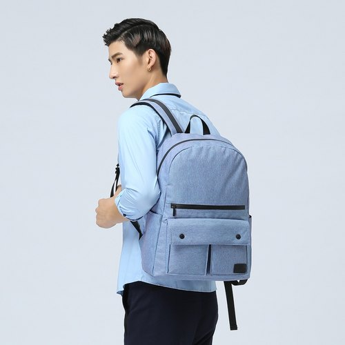 The Dude Hong Kong brand leisure sports after the backpack ultra - light anti - water splashing Urbanist - sky blue