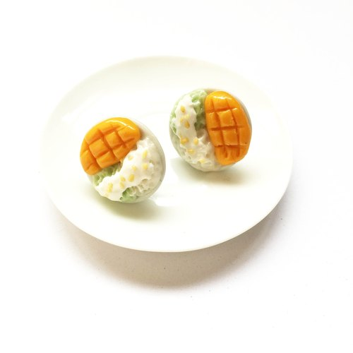 Mango sticky rice earrings