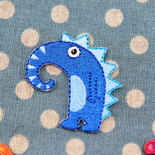 Long nose self-adhesive embroidered cloth stickers - cute monster series