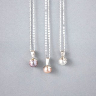 Handmade Sterling Silver Pearl Pendant, Freshwater Pearl Pendant