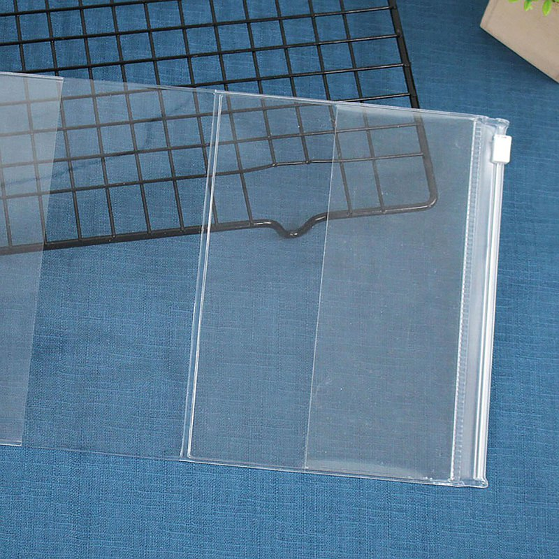 A6/50K transparent zipper protection book cover