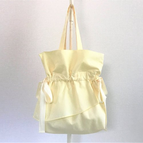 Raffle Airy Flare Handle Purse Petit Bag Citron Yellow