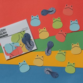 Frog sticker series (set of 15pcs)