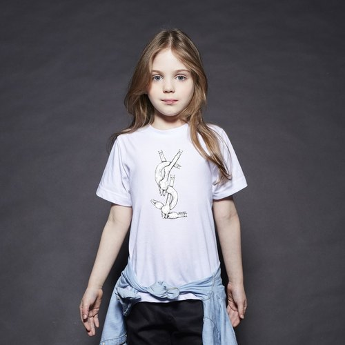 British Fashion Brand [Baker Street] Exercising Alpaca Printed T-shirt For Kids