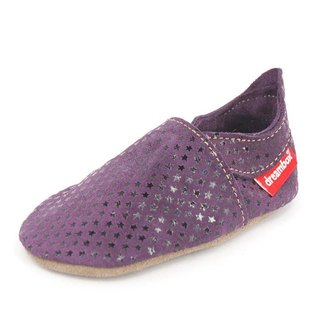 """Taiwan hand"" ""Mimi preferred"" ZORBA leather shoes / children's shoes (fine purple)"