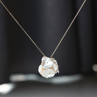 14kgf- blossom pearl necklace