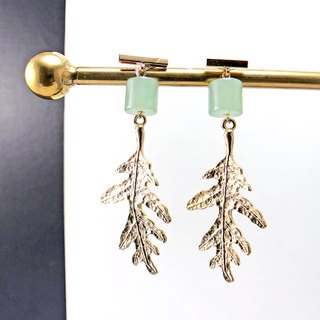 Jade 14KGF Earrings (Wedding) (Party Wear) (Christmas Gift) (Birthday Gift)