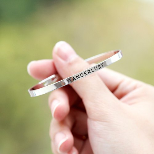 Wanderlust - Bangle in white gold plating