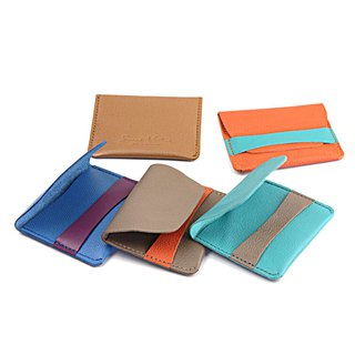 Leather Stripe Cardholder