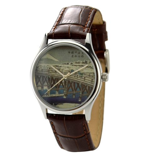 Ukiyo-style watch neutral design free shipping