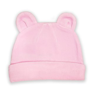 [Deux Filles organic cotton] cotton velvet cap - pink solid color