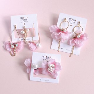 Limited. Not sold out after the sale. Offer 3 piece set full package cherry blossom Japanese earrings / ear clip