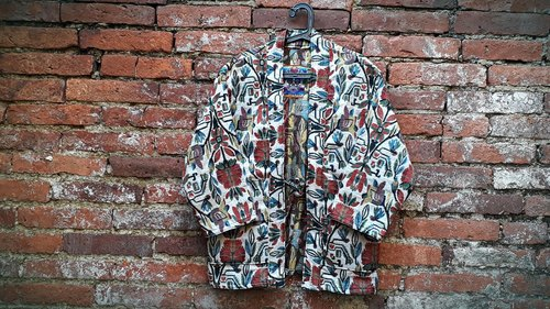 AMIN'S SHINY WORLD Handcrafted KIMONO Mexican Tulip Jacquard Old Cloth Coat Jacket