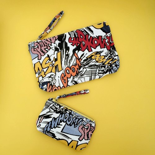 Pop Art Comics Canvas Pouch Set