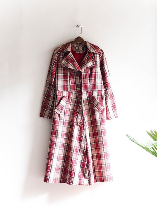 River Hill - Aichi Pink Plaid elegant maiden antique sheep wool coat wool coat wool vintage wool vintage overcoat oversize