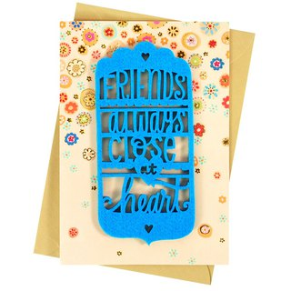 Our friendship will never change (Hallmark - Creative hand-made card friendship lasts)