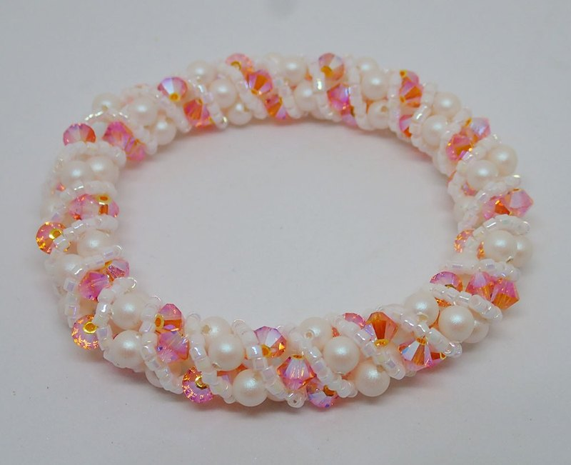 Lightup workshop - bracelet, with SWAROVSKI ELEMENTS, Sun AB2x