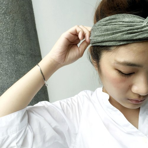 Olivedrab / Wide Elastic Hairband