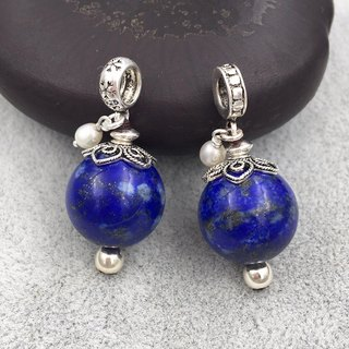 ♦ My.Crystal ♦ Large particles of natural lapis lazuli pendants