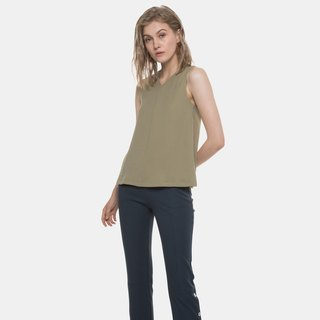 Reversible V Neck Paneled Top (Green)
