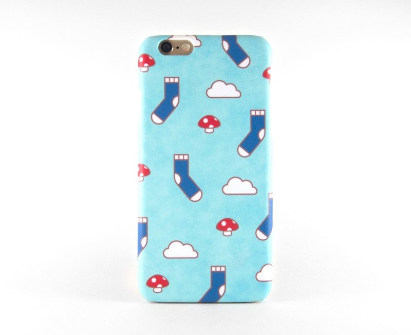 Happy cozy socks iPhone case