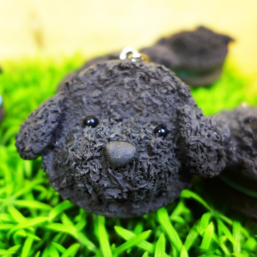 【Saturn Ring】 Petite Planet: Poodle (Black) | Light Earth Creation. Water repellent. Can change necklace / magnet / pin