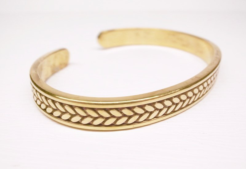 """Ermao Silver"" flat brass twist bracelet (female section) Valentine's Day (for hand Wai XS ~ M number)"