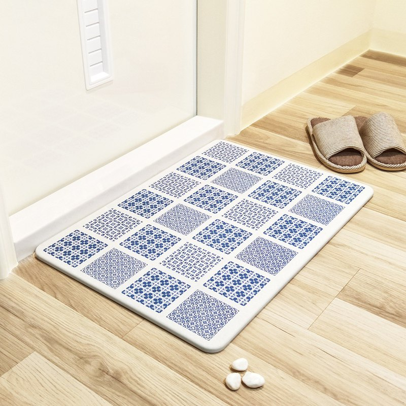 [MBM] 慵 lazy style tile washable algae land mat foot pad