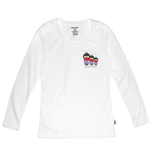 British Fashion Brand [Baker Street] Japanese Dolls Printed Long Sleeve
