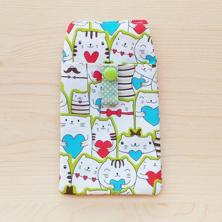 Love cat pocket pencil bag