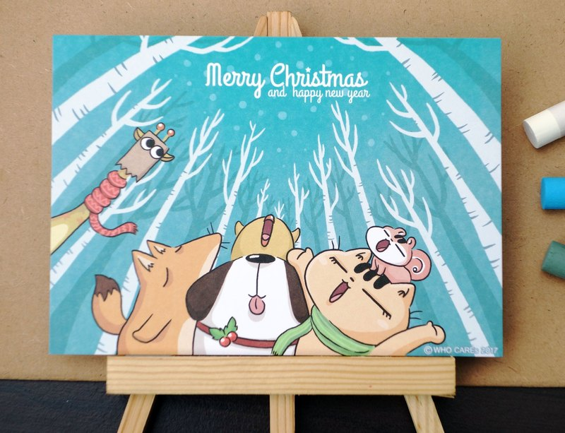 Christmas postcard _ leave time to important you