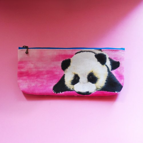 Meng Department of black and white Lang panda pencil bag