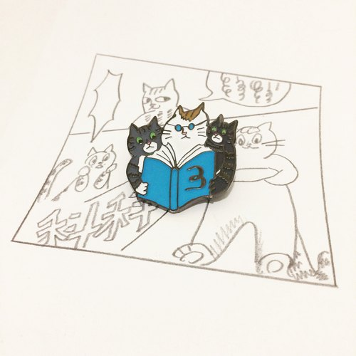 Three cat badge - Three cats in attendance!