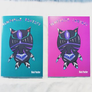 Black Panther Knight A5 Notebook