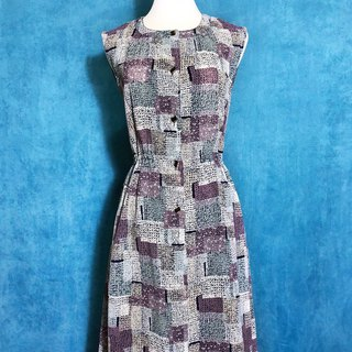 Totem Totem chiffon sleeveless vintage dress / bring back VINTAGE