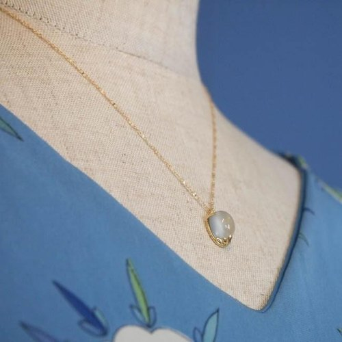 tiara K18 necklace (moonstone) 【FN 193】
