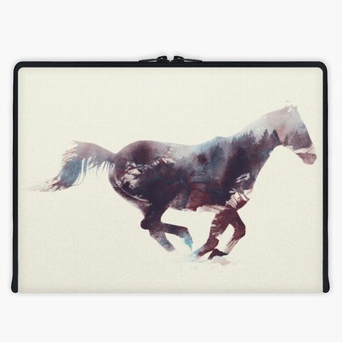 Axis - Custom 3-Sided Zipper Laptop Sleeve - Horse