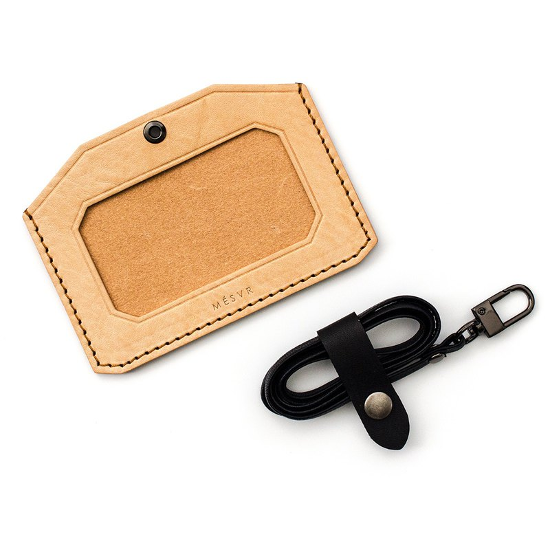 WILD I ID Card Holder Horizontal I Stainless Steel Lanyard Badge