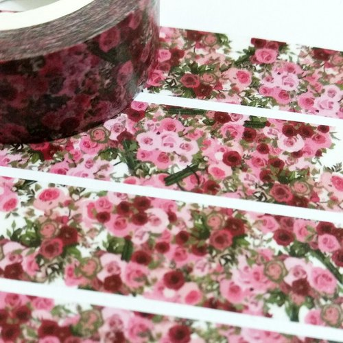 Customized Mini Washi Tape Dream Roses